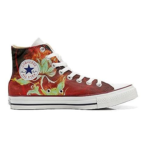 Converse Fleur - Converse Customized Chaussures Coutume (produit artisanal) fleur