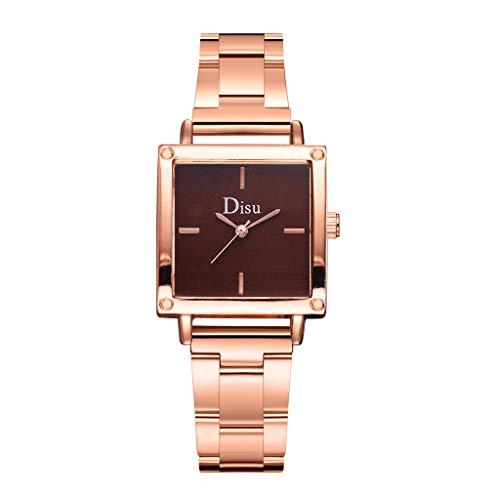 TWISFER Damen Analog Quarz Armbanduhr Platz Zifferblatt mit Edelstahl Armband Business Kleid Uhren Einfach Lässige Modish Analoge Uhren