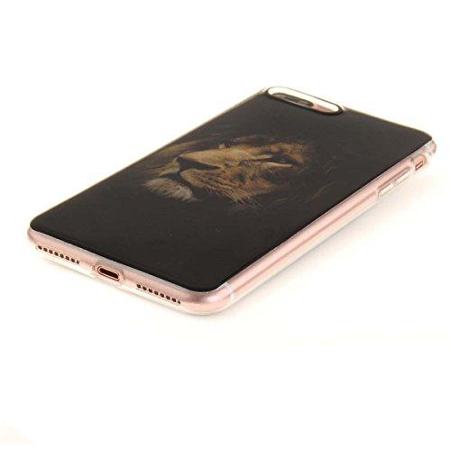 iPhone 7 Plus Custodia Slim Leggero Flessibile TPU Immagine Fiore Fucsia Case per Apple iPhone 7 Plus 5.5 Bianca Colore-13