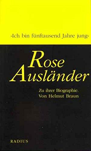 Rose Ausländer: Zu ihrer Biographie