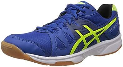 ASICS Men's Gel Upcourt Blue, Yellow and Black Mesh Tennis Shoes - 13 UK
