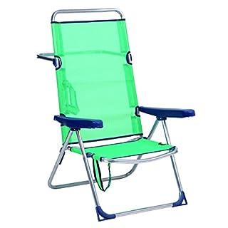 ALCO-Beach Chair Bed Aluminium High Back Turquoise (301-670AZ)