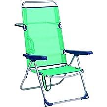 Alco - Silla Cama Playa Aluminio Respaldo Alto Color Azul Turquesa (30 1-670AZ