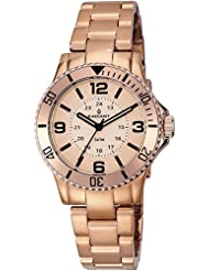 Radiant RA232207 - Reloj para mujer con correa de poliuretano, color dorado / gris