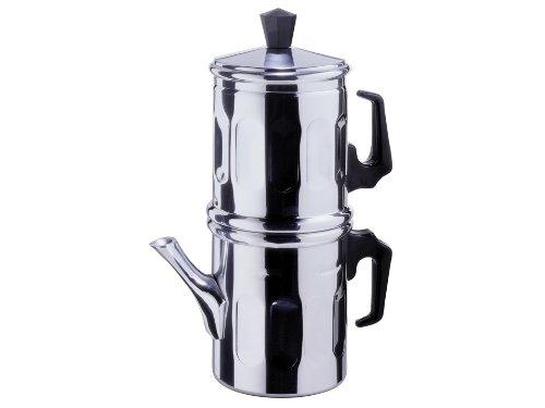 Neapoletanische Kaffeekanne Traditionell Aluminium TZ. 3–4