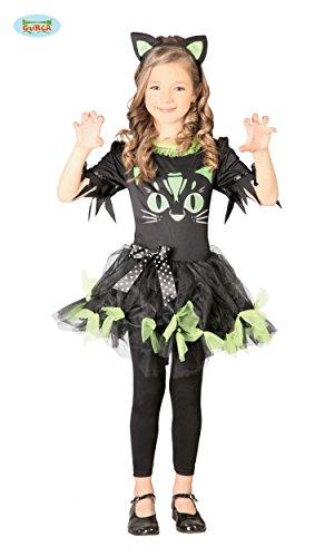 KINDERKOSTÜM - BLACK KITTY - Größe 122-132 cm ( 7-9 Jahre ), Märchen Kätzchen Katzen (Baby Kitty Katze Halloween Kostüm)