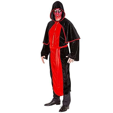 Herren Vampir Kostüm Teufel Dämon Herrenkostüm inkl. langem Gewand, extra Cape und Schärpe (XL | Nr.
