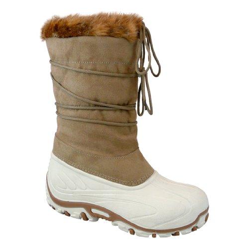 Manbi - botas de nieve unisex, color Beige, talla 35-36 EU