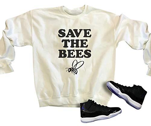 yssgtt Speichern Sie die Bienen Brief Grafik Print Langarm Hoodie Sweatshirt lässig Baumwolle Pullover Tops für Frauen