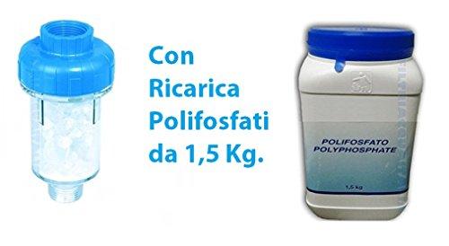 Filtro Antical Para Lavadora con 10recargas de polifosfato de 1,5kg.