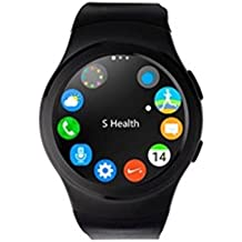 Swiss-pro - Reloj inteligente vernier smartwatch negro bt 4.0 / tarjeta sim/ pulsometro/ podometro