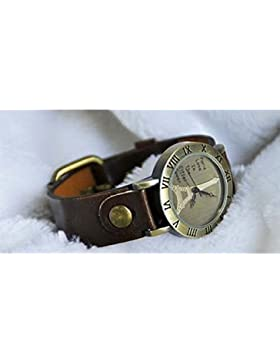 SSITG Damenuhr - Leder - Armbanduhr - Vintage - Retro - Damenarmbanduhr - Spangenuhr Paris Eiffel SSA-4