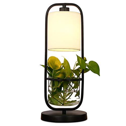GENGJ-lampe Kreative Hydroponische Pflanze Led Schreibtischlampe Arbeitszimmer Platz/Schlafzimmer/Bett/Restaurant/Hydroponische Kaffeemaschine Schmiedeeisen Topfknopf Tischlampe Topfkomfort