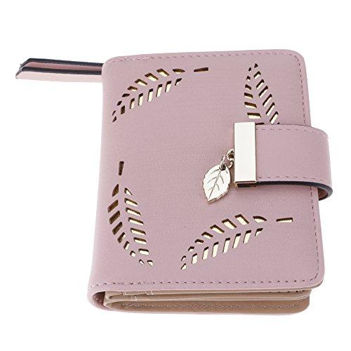 Mmrm neue mode PU leder lässt frauen aus kurzen brieftasche Geldbörse handtasche karteninhabern wallet Rosa