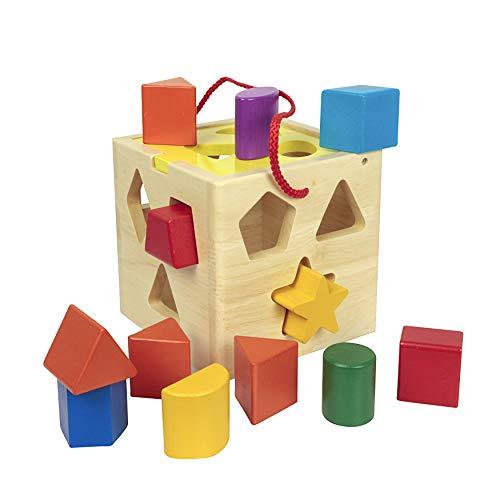 Vinz Hölzerne Form Sortierwürfel / Sortierkast   Form Sorter   Pädagogische Form-Farben   Erste Blöcke Formensortierung   Spielzeug für Baby (Spielzeug-blöcke Für Babys)
