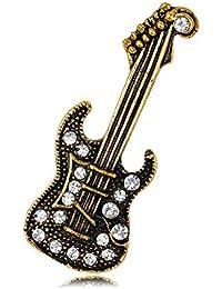 MAlex De aleación de perforación Ropa de Broche Guitarra de Oro Antiguas Joyas de galvanoplastia