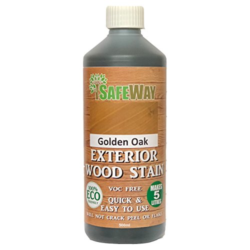 Exterior Wood Stain Concentrate For Fence, Shed, Decking And More - Makes 5 Litres - 17 Beautiful Colours (Golden Oak)