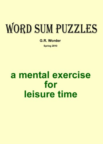Word Sum Puzzles (English Edition)