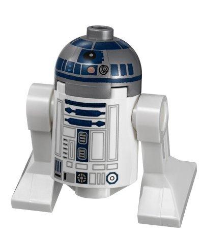 LEGO Star Wars Minifigur Astromech Droid R2-D2 mit Metallic Kopf Episode III Ep. 3 (Star Lego-r2d2 Wars)