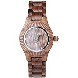 The Time Premium Women's Watch Wood Overgrip GA03