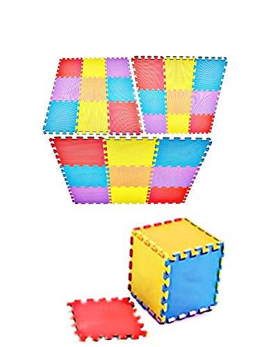 Abaseen Spielmatte für Babys, 3,68 m², aus weichem Eva-Schaum, 36 Stück