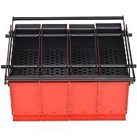 Tidyard Compactador de Papel Prensa para Convirtiéndolos Papel en Combustible de Respetuoso con el Medio Ambiente Acero 38x31x18cm Rojo y Negro