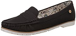 CL by Carlton London Womens Pelagia Black Loafers and Moccasins - 5 UK/India (38 EU)
