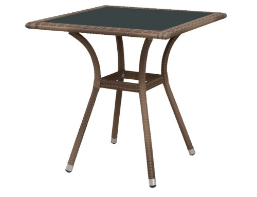 Siena Garden 800268 - Mesa lateral para exterior (aluminio), color marrón