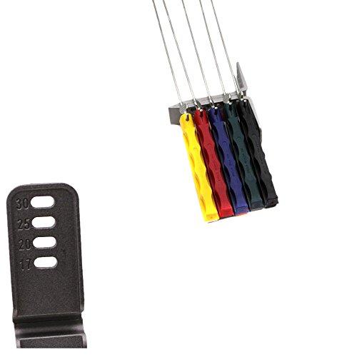 KKmoon Professionelle Tragbare Fix Winkel Apex Rand Messerschleifer Set 5pcs Schärfsteine Schleifwerkzeug