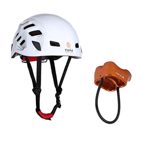Magideal casco + 25 kn dispositivo di assicurazione belay device per arrampicata all'aperto alpinismo discesa in corda ingranaggi protezione moto sicurezza