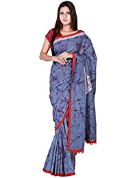 Panvi Cotton Saree (P-133_Hand Block Batik Print Pure Cotton With Blouse Peice_Free Size)