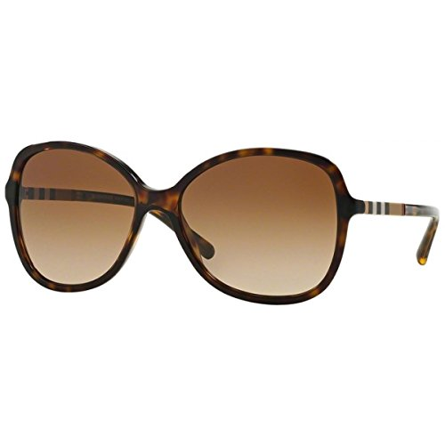 Von Sonnenbrille Für Burberry Herren (BURBERRY Unisex Sonnenbrille BE4197, Mehrfarbig (Gestell: Dunkles Havana, Gläser: Braun-Verlauf 300213), Large (Herstellergröße: 58))