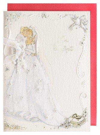 Hochzeitskarte Brautpaar Geldgeschenkkarte