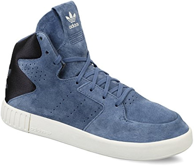 Adidas Originals Tubular Invader 2.0 Echtleder Schuhe Sneaker Turnschuhe Blau