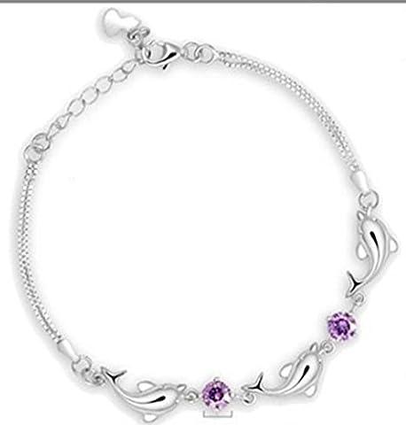 SaySure - 925 Sterling Silver Dolphin LOVE Women bracelet