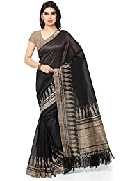 Rajnandini Tussar Art Silk Saree (Joplnb3009_Black Color)
