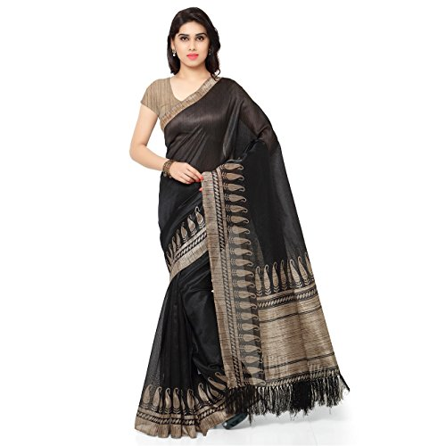 Rajnandini Tussar Art Silk Saree (Joplnb3009_Black Color)