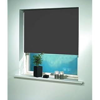 Debel Store occultant Enrouleur 100x 150cm 100% Polyester Uni Noir, Tissu, Gris, 100 x 175 cm