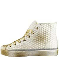 Beverly Hills Polo Club Sneakers Mujer 41 EU Blanco Textil Beige AH996 xlxgp
