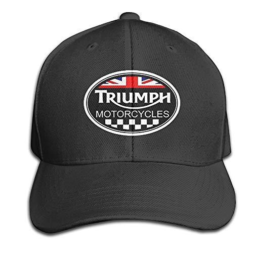 Youaini Unisex Adult Triumph Logo Black Solid Caps/Snapback Hats/Baseball Caps/Caps/Hats Black -