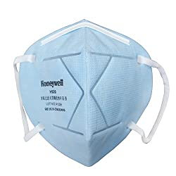 Honeywell PM 2.5 anti-pollution foldable face mask, Icy Blue, Pack of 10