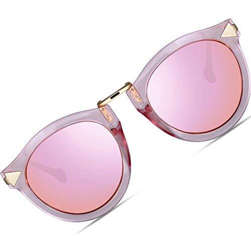 ATTCL Damen Vintage Mode Polarisiert Sonnenbrille Damen 11189 Rosa