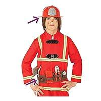 Guirca Fireman Belt & Helmet Kids Fancy Dress Accessory