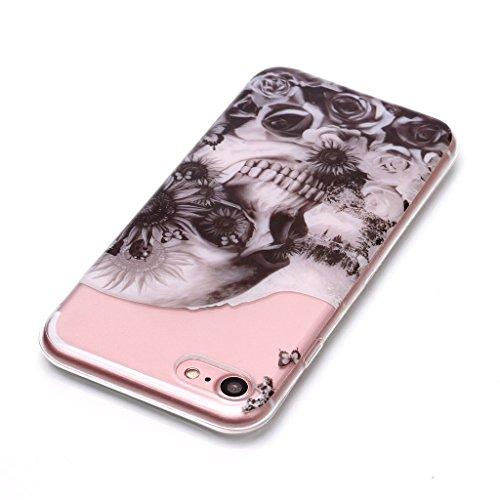 Per iPhone 7 / iPhone 8 Cover , YIGA gufo Cristallo Trasparente Silicone Morbido TPU Case Shell Caso Protezione Custodia per Apple iPhone 7 / iPhone 8 (4,7 pollici) XS71