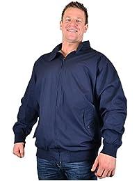 b2cd544725927 Kam Big Mens Navy Hove Harrington Style Jacket 2xl 3xl 4xl 5xl 6xl 7xl 8xl