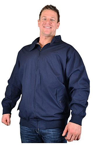 Big Herren Marineblau Kam Hove Harrington Stil Jacke 2 X L 3 X L 4 X L 5 X L 6 X L 7 X L 8 X L Gr. xxxl, Blau - Navy (Kingsize-mens Tall And Big Jacke)