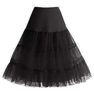 HomRain 1950 Petticoat Vintage Retro Unterrock Reifrock Underskirt für Rockabilly Kleid