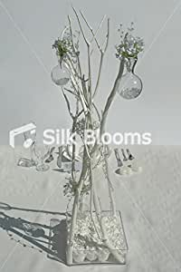 Blanc Rose Gypsophila & Mitsumata branche affichage de table de mariage