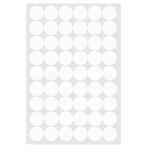 W-top Vinilo Decorativo Pegatina Pared de Ronda de círculo de arte para dormitorios,cocina,sala y ventana ect (Blanco)