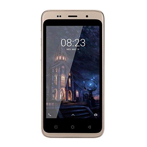 Smartphone, Yuland 5 'Android 4.4 Octa-Kern 1G + 8G 2G / GSM WiFi Doppel-SIM Bluetooth freigesetzter Handy Android, Doppel-Smartphone (Gold)